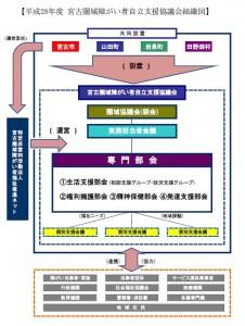 宮古圏域障がい者自立支援協議会 組織図 H28